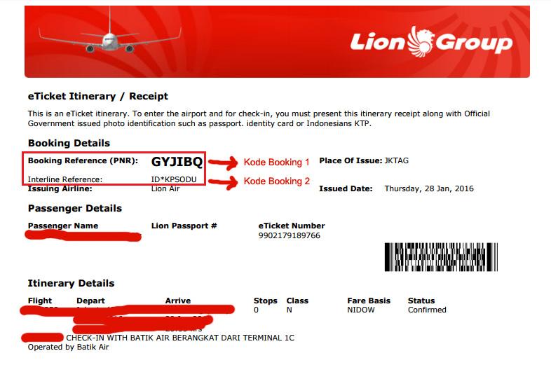 booking yang diperlukan untuk melakukan web check ini di Batik Air ...